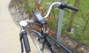 GPS op fietsstuur